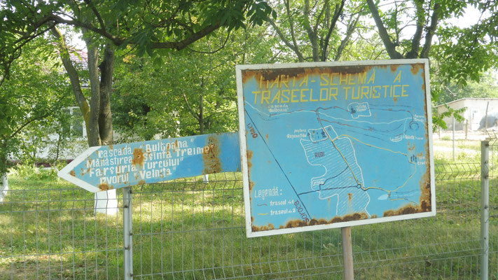 Informationstafel in Rudi, Moldawien