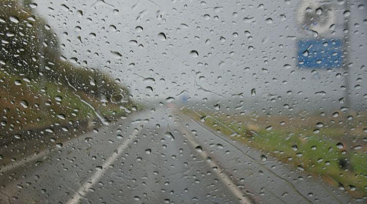 Ein Regenschauer lässt nicht lange auf sich warten