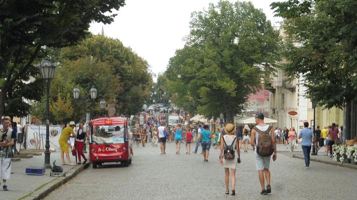 Lebhaftes Treiben in Odessa