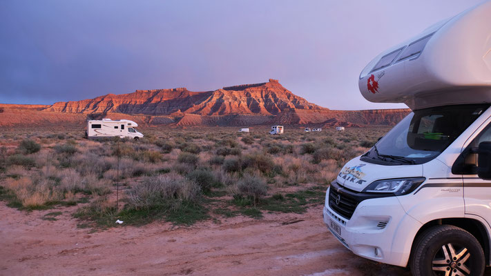 Wir stehen auf dem BLM Gelände in Utah