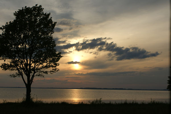 Abendstimmung am 2. grössten See Lettlands.