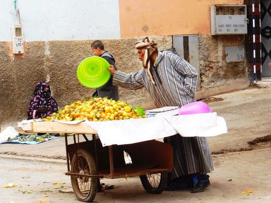 Auch Mandarinen werden noch angeboten
