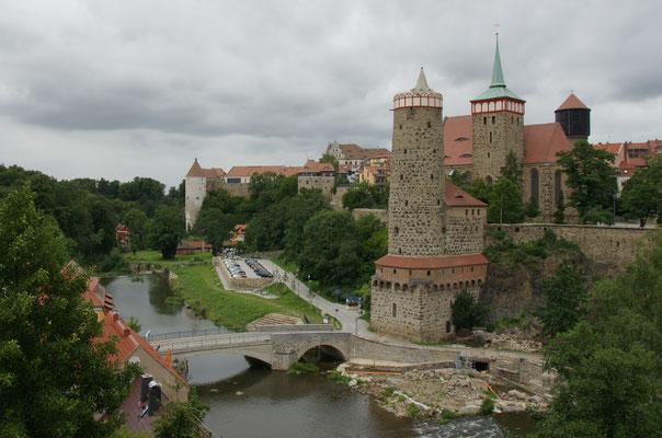 Blick auf die Altstadt Bautzens an der Spree