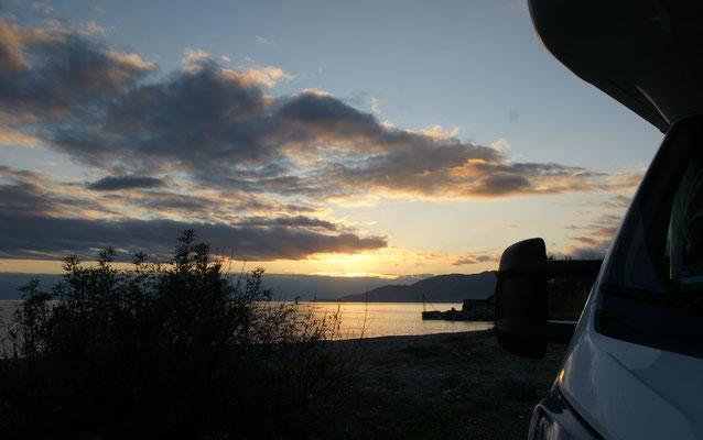 Abendstimmung am Strand kurz vor Sapri