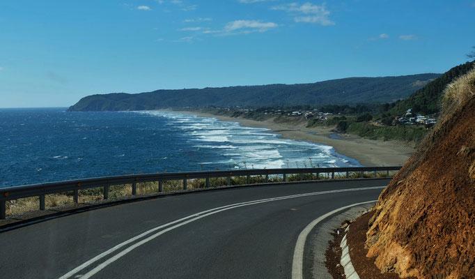 ...nicht mal an der windigen Pazifikküste finden wir ein Uebernachtungsplätzchen