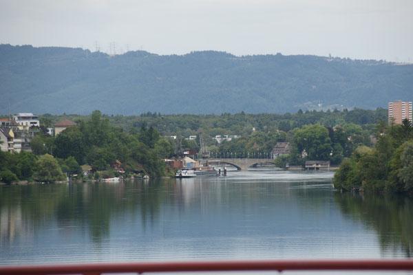 Das letzte Mal über den Rhein, bei Rheinfelden