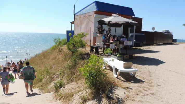 Ladenlokal neben uns am schwarzen Meer