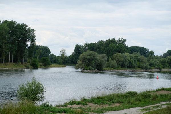 In Deggendorf vermählen sich die Isar und die Donau