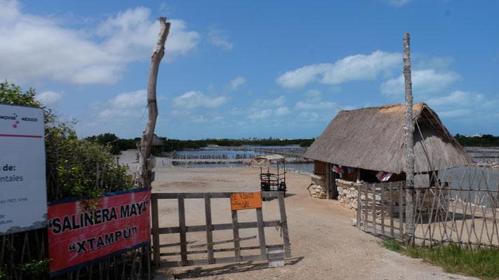 Eine Saline in der Lagune