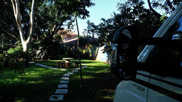 Unsere erste Nacht in Asuncion im Norden der Stadt beim Hotel Westfalia