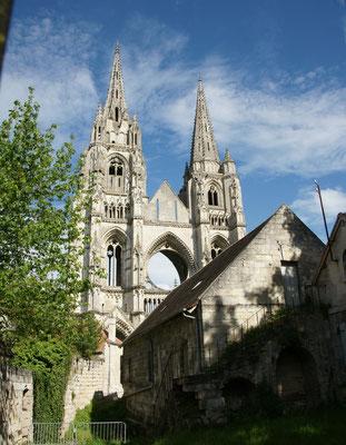 Die Abtei von Soisson. Eine Ruine, aber kann besichtigt werden