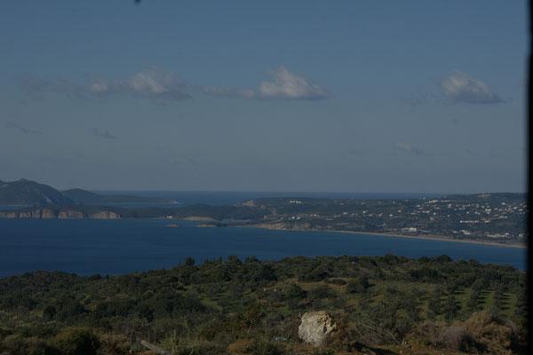 Blick auf die Bucht von Finikounda