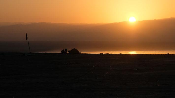 Für einmal ein Sonnenaufgang im Norden von Antofagasta