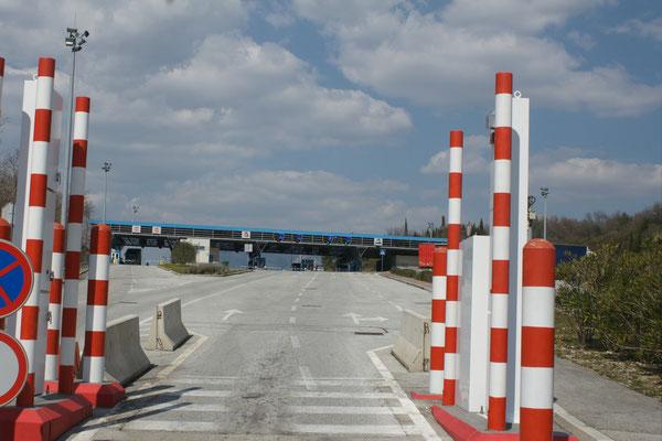 Völlig ruhige Grenze nach Kroatien