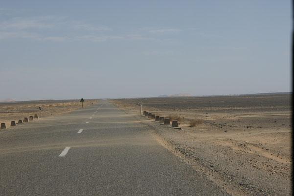 Die ersten Ausläufer der Sandwüste