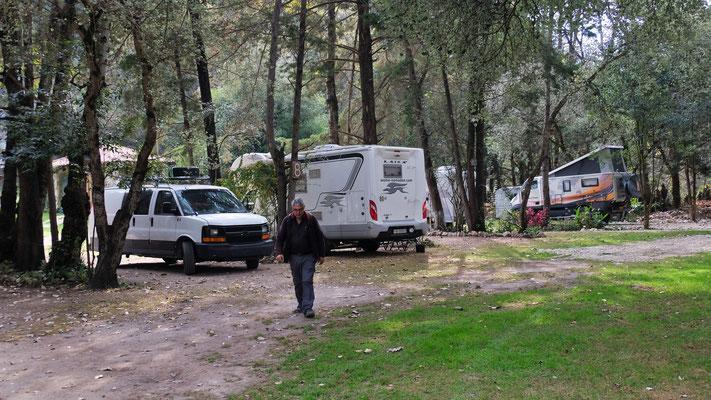 Wir sind nicht die einzigen Camper auf dem Platz