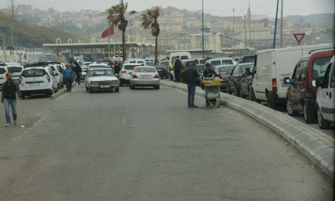 Vor der Ausreise nach Ceuta.