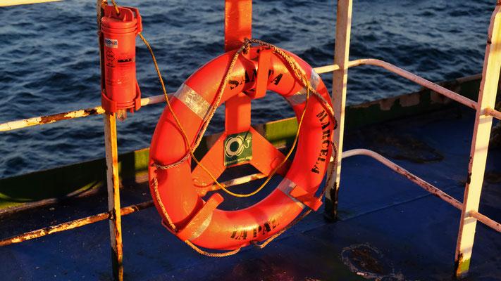 """Unser Frachtschiff die """" Santa Marcela"""" ist nicht die neueste....."""