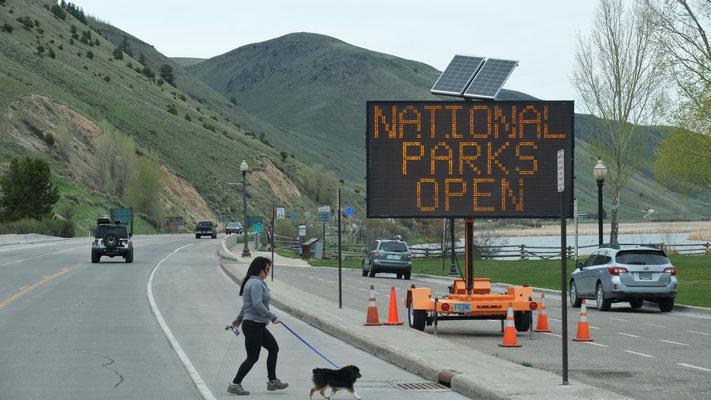 Der Beweis dass die Parks geöffnet sind