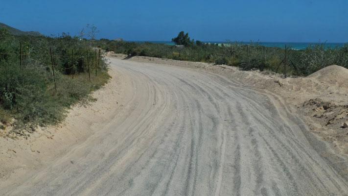 Die Sandstrasse ist echt tückisch.....