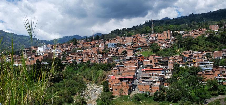 Die letzten Ausläufer von Medellin