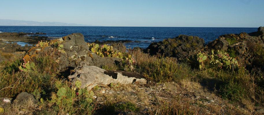 Wir haben es wieder gefunden, das Lavagestein in Giardini-Naxos