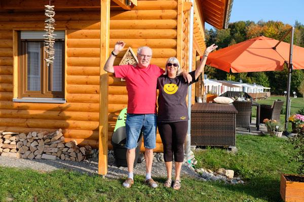 Winke, winke Corina und Wolfgang. Haltet die Stellung auf dem Camping