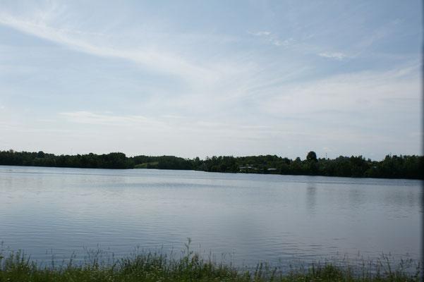 Auch hier immer wieder Seen
