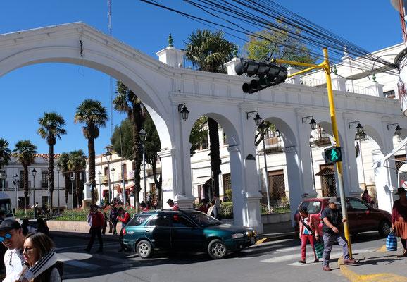 Das historische Zentrum von Sucre