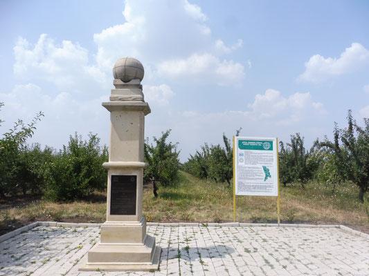 Der Obelisk am moldauischen Struve- Punkt