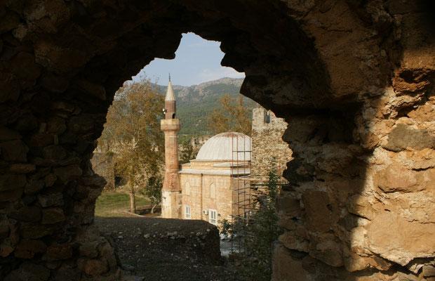 Mittendrin die Moschee