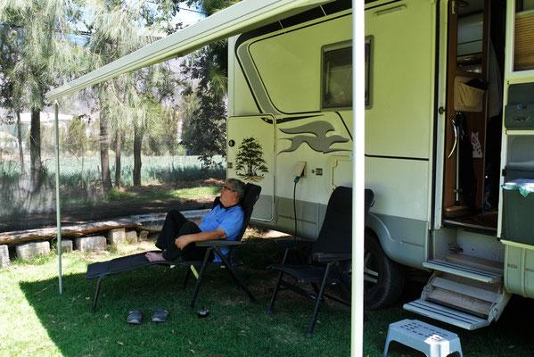 ... liegt der Campingplatz mit dem Rasen