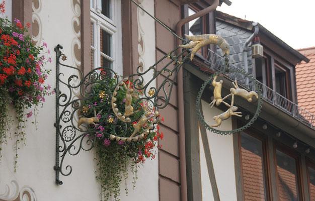 Viele angeschriebene Häuser gibt es in Michelstadt
