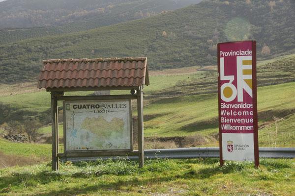 Hier beginnt das ehemalige Königreich Leon