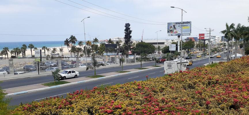 """In Manta """" Parkplatz"""" wiederum direkt vor dem Eingang zum Einkaufsparadies."""