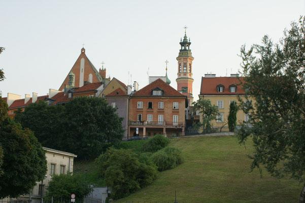 Blick vom Parkplatz auf die Altstadt.