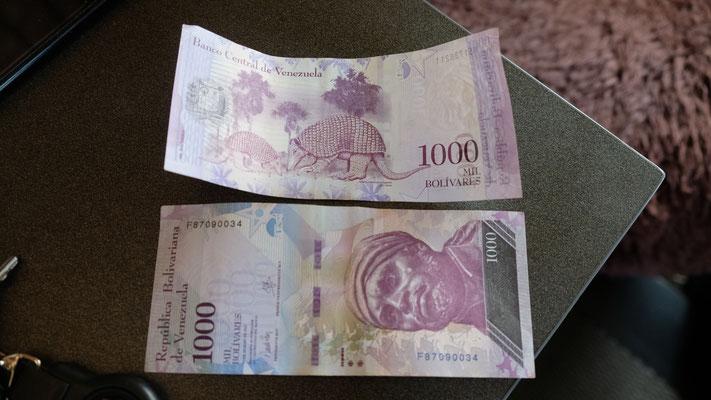 2000 Venezulanische Bolivar im Wert von 0.005 Cts.