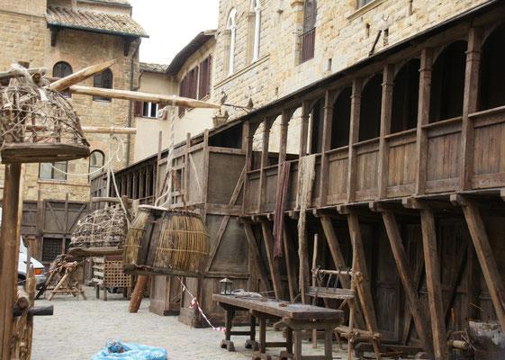 Kulissen für den mittelalterlichen Film