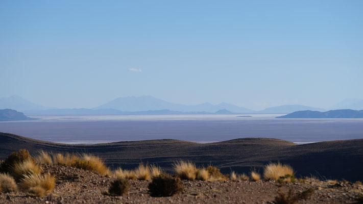 Letzter Blick zurück auf den Salar de Uyuni