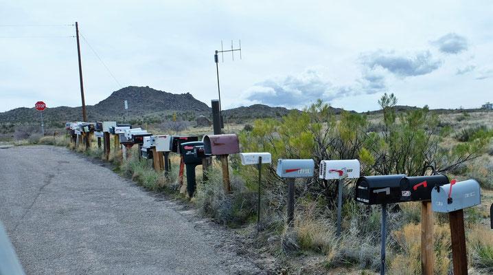 Die Briefkästen auf der Route 66 sind noch in Betrieb