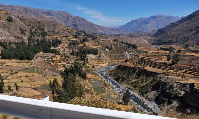 Der Colca Fluss. Hier noch ganz nah
