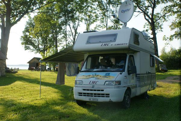 Der Campingchef spricht deutsch