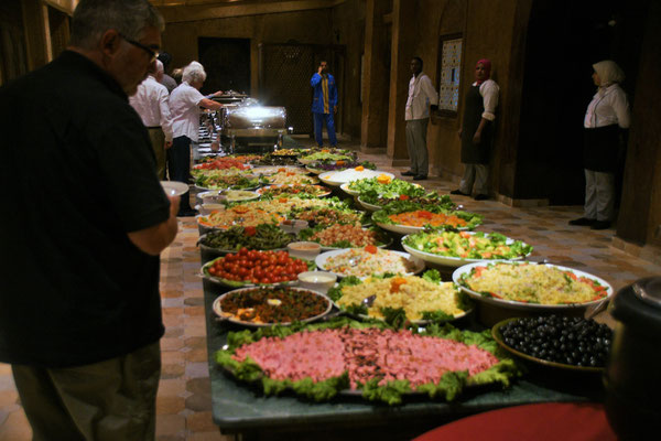 Im Hotel Tombouctou. Wunderbares Buffet