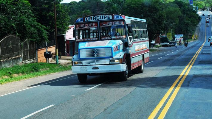Die farbenfrohen Busse haben es mir angetan