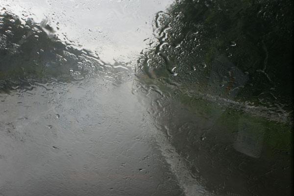 Regen auf dem Weg nach Cuxhaven
