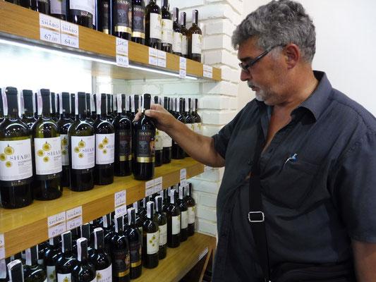 Alois sucht aus bei Shabo in der Ukraine