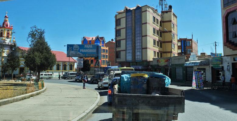 und die Fehlermeldung ist weg. Nicht mehr nur die Armen wohnen in El Alto