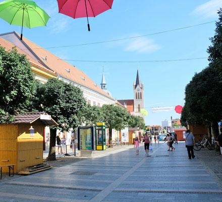 Die Einkaufspassage von Keszthely