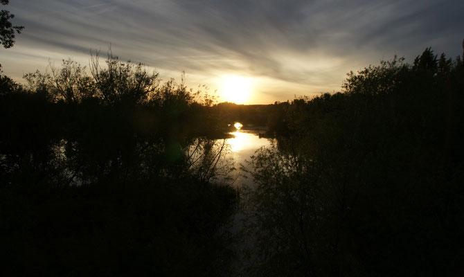 Die Sonne verabschiedet sich in Salamanca
