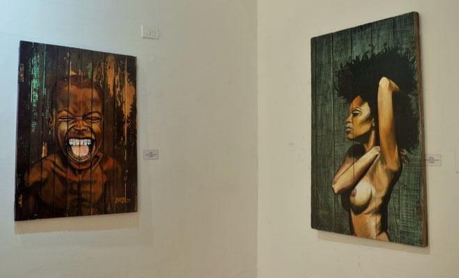 Zahlreiche Galerien in der historischen Altstadt von Cartagena...